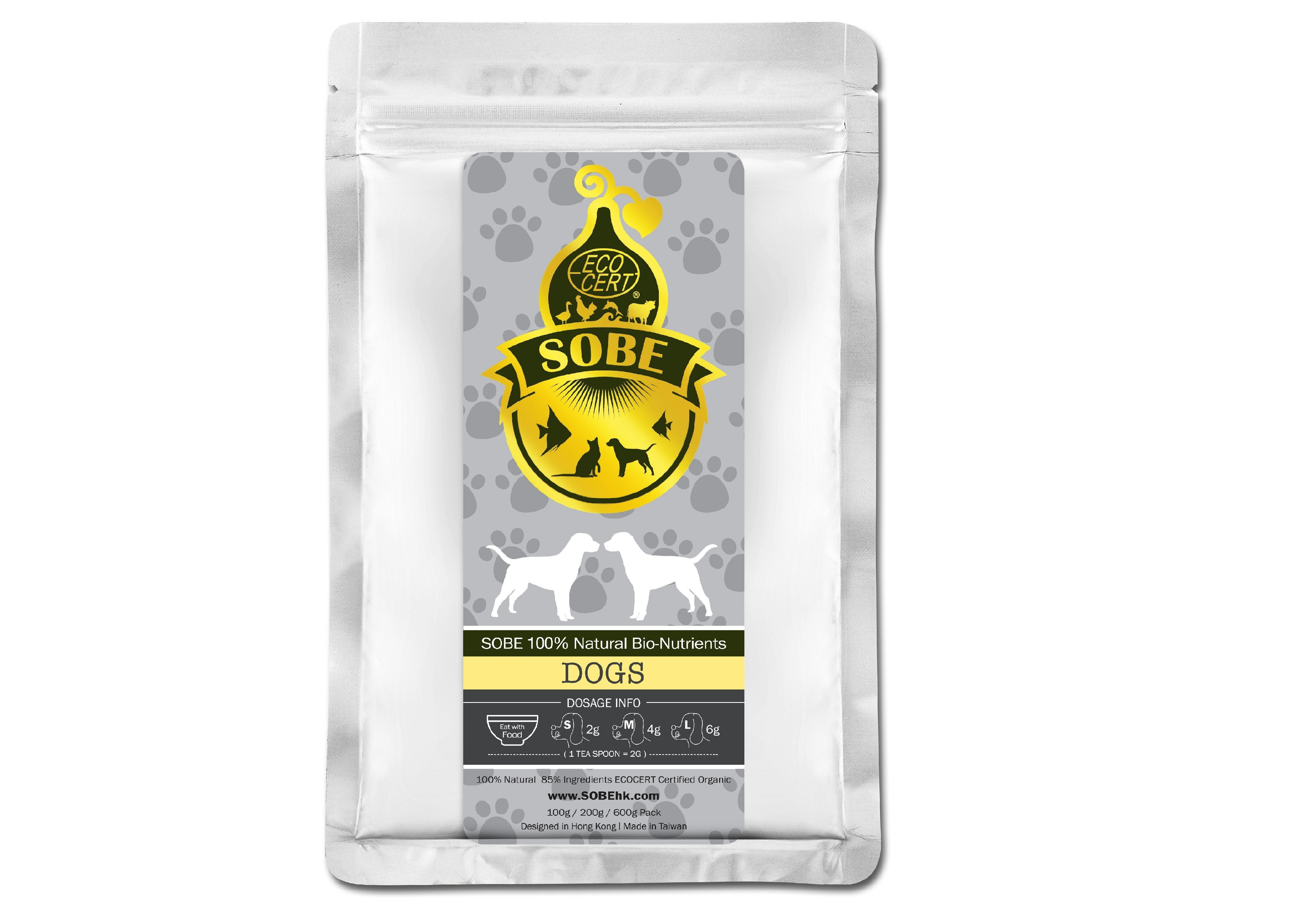 SOBE 100% Natural Bio-Nutrients - Dogs (100g Aluminium pack) 100%全天然寵物益生素 - 狗 (100g 鋁包)